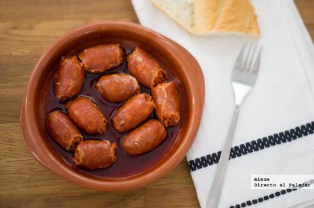 Chorizos a la sidra para microondas - 4