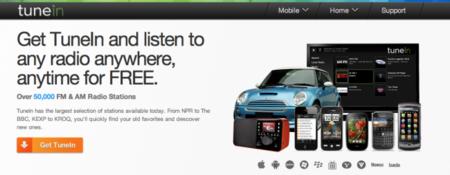 TuneIn Radio: emisoras de todo el mundo en la palma de tu mano vía streaming