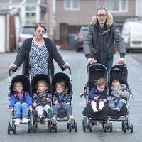 Familia numerosa en tiempo récord: tienen cinco hijos de menos de tres años en casa