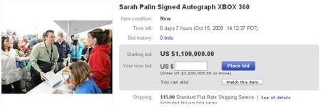 Imagen de la semana: la Xbox 360 firmada por Sarah Palin