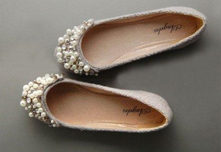 Bailarinas con perlas, glamour años 20 en tus pies