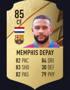 Memphis fifa 22 mejores atacantes