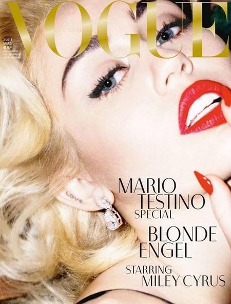 ¿Es Miley Cyrus en Vogue? No, es Madonna,... No, es Marilyn...