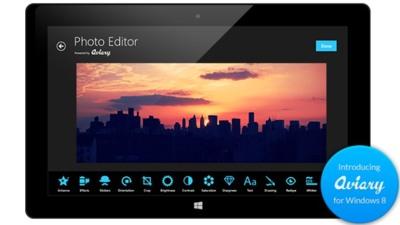 Aviary lanza su SDK y su aplicación oficial para Windows 8