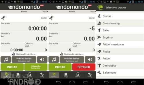 Aplicaciones Android deportes: Endomondo Sports Tracker