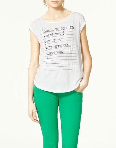Zara camiseta texto