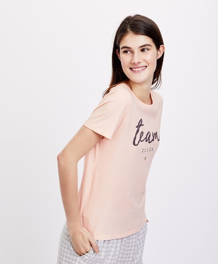 Camiseta Pijama Team Bride Oysho