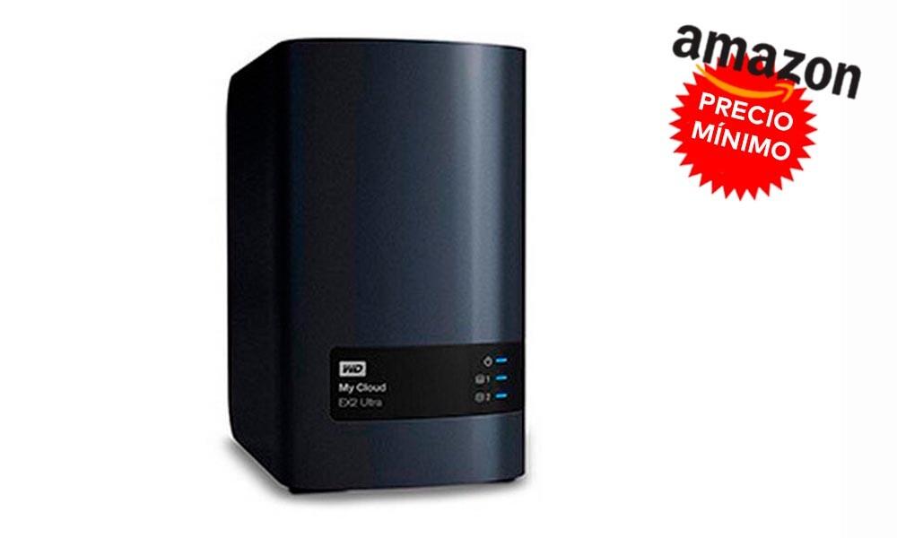 Si buscas un NAS con mucho espacio y al mejor precio, en Amazon, el Western Digital My Cloud EX2 Ultra de 16 TB está a precio mínimo, por 525 euros