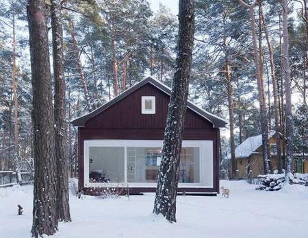 Exterior cabaña en el bosque
