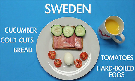 Desayuno típico de Suecia