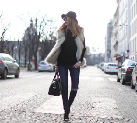 Chalecos pelo Jeans Rotos Rodilla