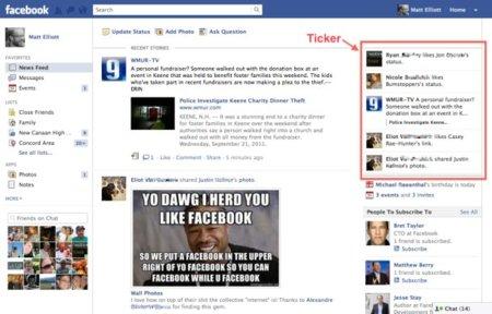 Facebook comenzará a incluir publicidad en su ticker a partir de este lunes