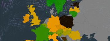 Este cautivador mapa muestra en tiempo real cuánto CO2 está emitiendo cada país en cada momento