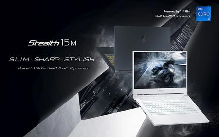 MSI Stealth 15M: el nuevo portátil gaming de MSI tiene un grosor de 16 mm y monta hasta un Intel i7 de 11ª generación