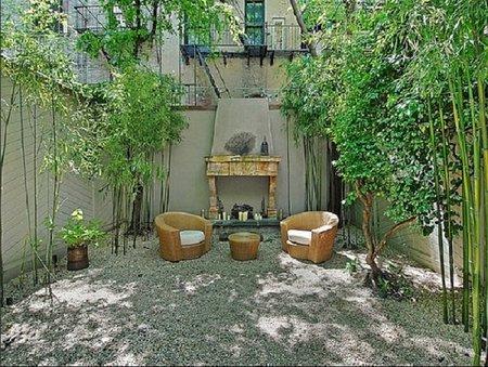 El patio de Uma Thurman.