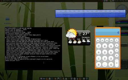 Screenlets - capa de widgets con Compiz
