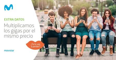 La subida de gigas gratis llega a los bonos de datos extra de Movistar: hasta 30 GB por 30 euros
