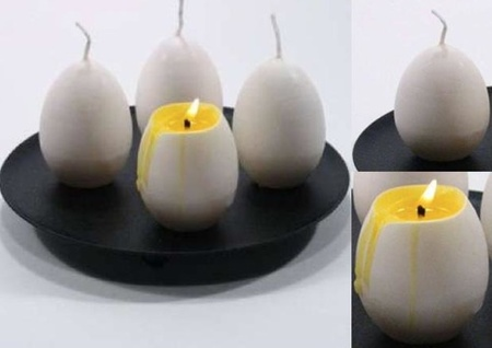 Velas con forma de huevo