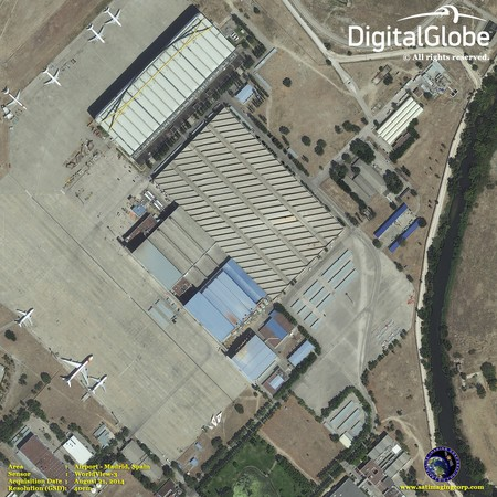 Worldview 3 Satellite Image Airport Mapping Squashed