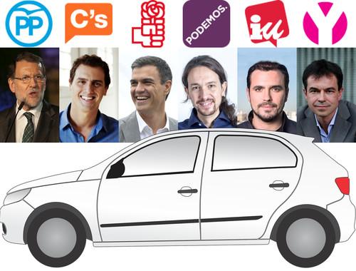 20D: Esto prometen PP, Ciudadanos, PSOE, Podemos, IU y UPYD sobre automóviles y movilidad