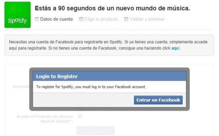El error de Spotify: ahora es necesario una cuenta en Facebook para escuchar música