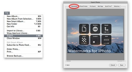 Añade marcas de agua en tus fotos con Impression for iPhoto