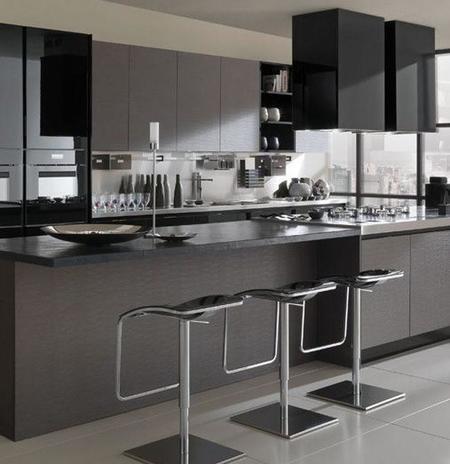 Las sombras de grey en decoraci n for Cocina equipada negro y gris