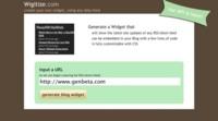 Wigitize, creación de widgets con los contenidos de los feeds