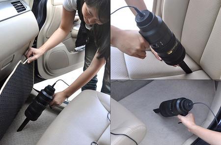 Aspiradora de coche con forma de objetivo Nikon
