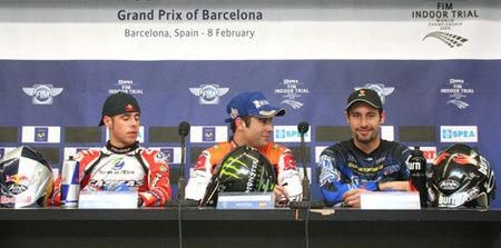 Rueda de prensa del Trial Indoor Barcelona 2009
