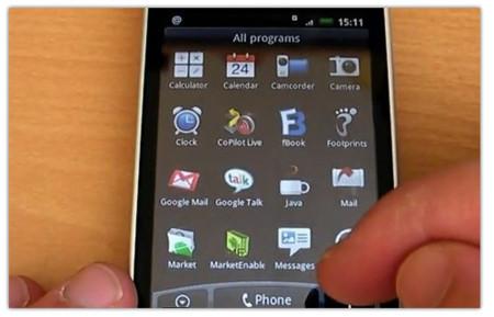 HTC Hero rosa y vídeo de la nueva actualización en funcionamiento