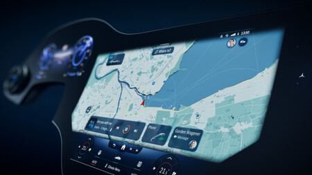 Mercedes Benz Mbux Hyperscreen Mapas