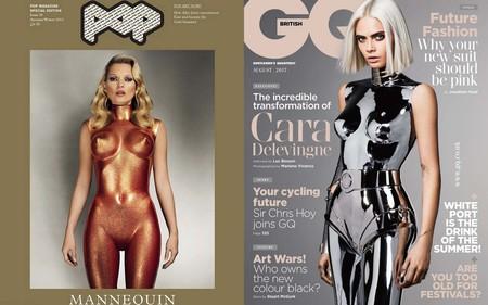 Cara Delevingne Se Convierte En Robot O Copia De Kate Moss Para Gq De Reino Unido 2
