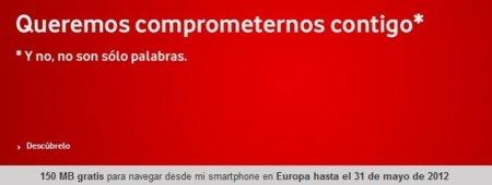 Vodafone eliminará los MB para navegar por Europa de sus tarifas por tallas a las nuevas contrataciones