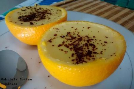 Naranjas rellenas. Receta saludable