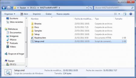 Windows Azure TK for WP7 folder