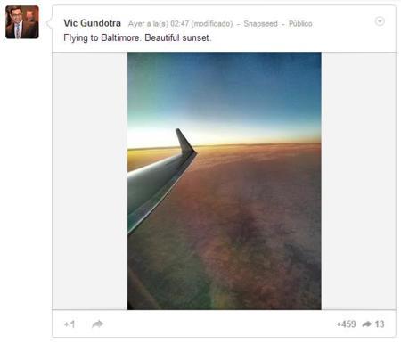 Vic Gundotra usando Snapseed