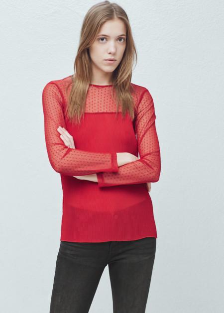 Camiseta Plumeti Roja Mango