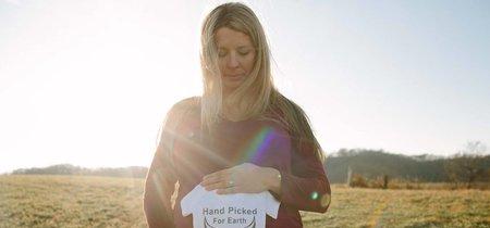 Dice haber notado la presencia de su marido fallecido durante la sesión de fotos de embarazo de su bebé arco iris