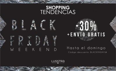 Lusstra también se suma al Black Friday ofreciendo hasta un 30% de descuento en las compras que hagamos