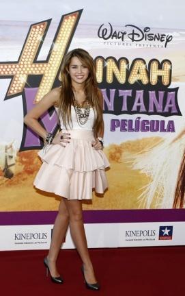 Miley Cyrus presenta 'Hannah Montana: La Película' en Madrid