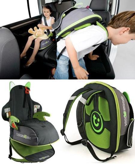BoostApak, la mochila que se transforma en silla para el coche