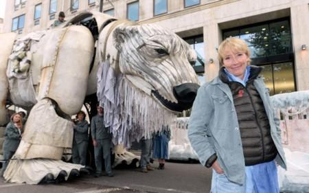 Emma Thompson apoyando una protesta de Greenpeace