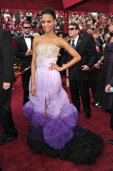 Zoe Saldana de Givenchy Couture
