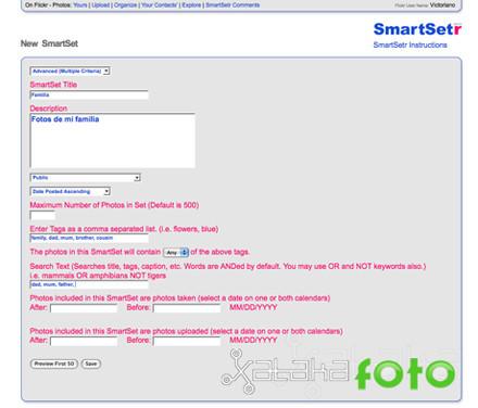 Sets inteligentes en Flickr con SmartSetr