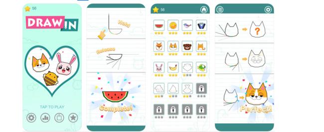 Draw In, un sencillo y adictivo juego que no deja de acumular descargas en la App Store