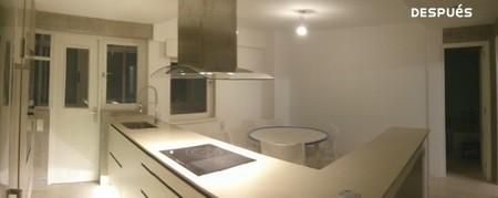 Antes y despu s cuando tirar un tabique es necesario para ganar espacio y luz en la cocina - Tirar tabique ...