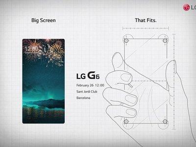 LG nos invita a conocer a su LG G6 el 26 de febrero: pantalla de 5,7 pulgadas y marcos mínimos