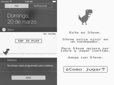 Steve, el dinosaurio que saltó desde tu navegador a las notificaciones de tu iPhone