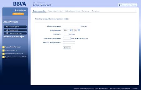 Phishing simulando una comunicación del BBVA